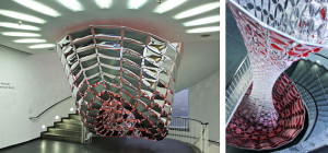 Site-specific installation, laser cut mylar & acrylic